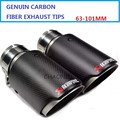 Car-Styling 1 Pair: ID 63mm  OD 101mm Stainless Steel Akrapovic Carbon Fiber Car Exhaust Tip Muffler for any cars