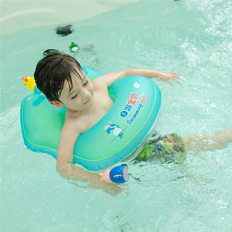 Baby U-type Safety Inflatable Swimming Ring Infant Floating Circle Swim Pool Bathtub Flo ...
