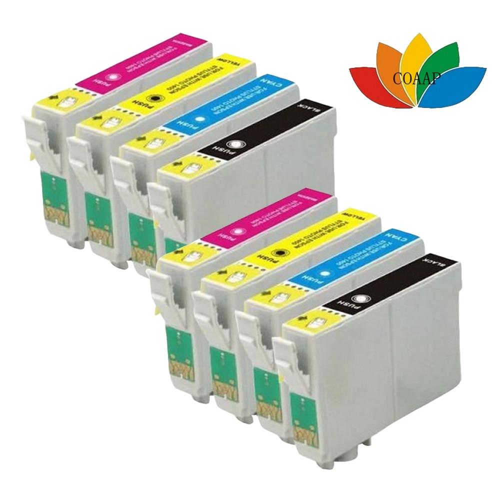 8pack Compatibele EPSON fox T1285 multi-inktcartridges Stylus SX125 SX130 SX230 SX235W SX420W SX425W Printer