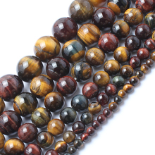 Natrual Stone Beads Mixed Color Tiger Eye Stone Beads For Jewelry Making Bracelet Necklace 4/6/8/10/12/14mm 15inches Diy Jewelry