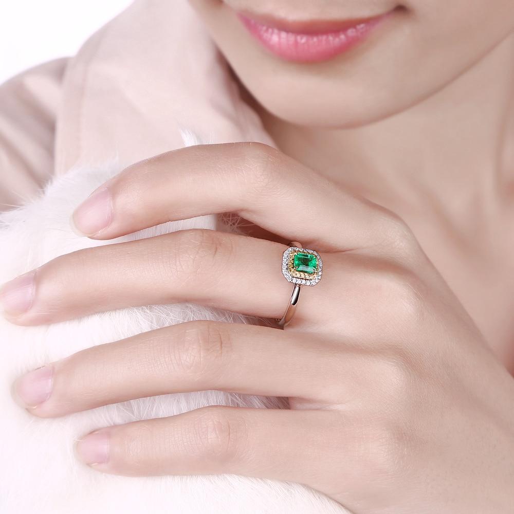 Caimao 18kt/750 золото 0.73ct натуральный изумруд 0.21ct diamond Обручение кольцо ювелирных камней