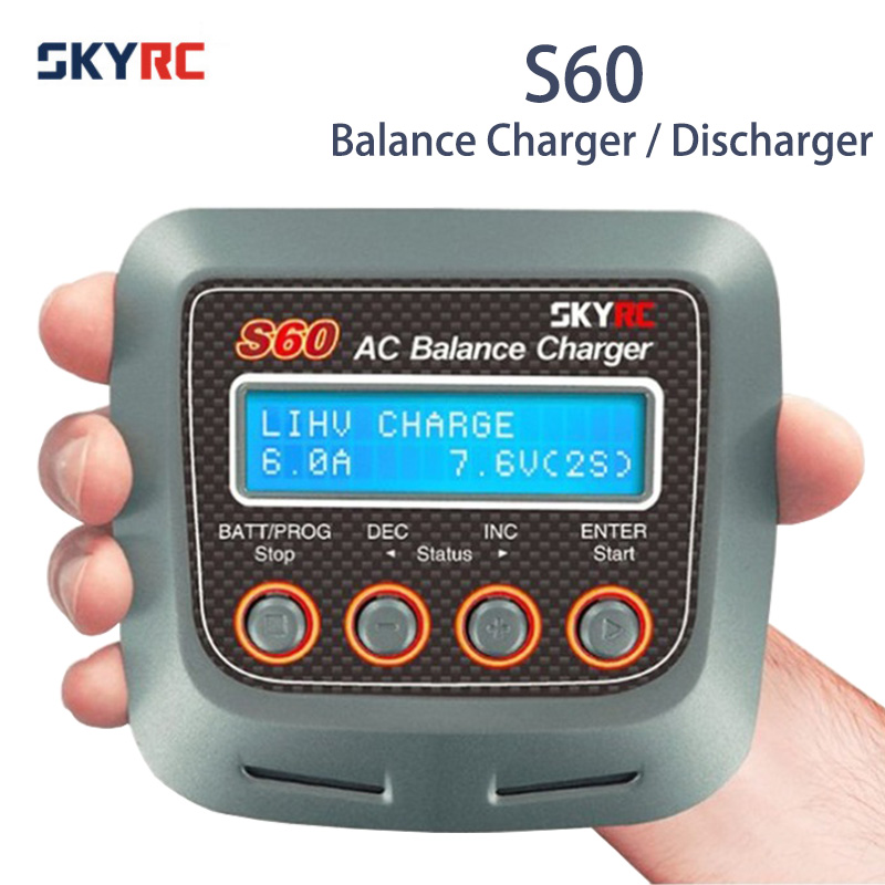 Original SKYRC S60 60W 6A AC Balance Charger Discharger for RC Airplane Car Boat Battery Lipo LiHV LiFe LiIon NiMH
