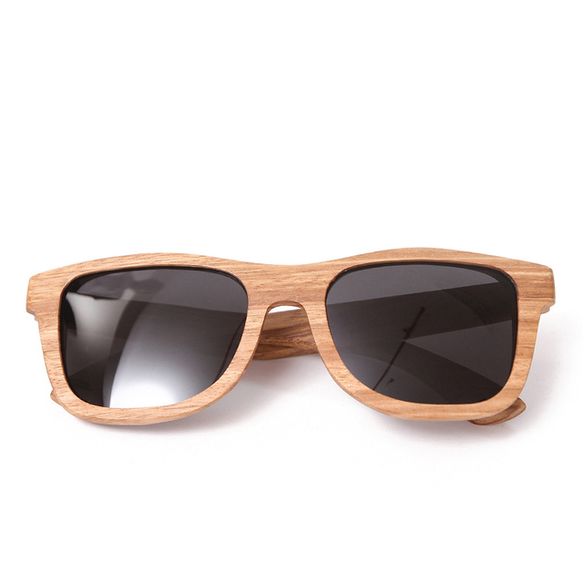 4c70ae169d5 BerWer New 100% Real Zebra Wood Sunglasses Polarized Handmade Bamboo Mens Sunglass  Sun glasses Men