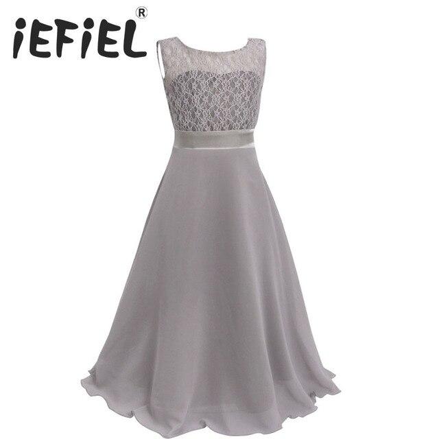 147af7504c926 IEFiEL enfants Floral filles robe pour fête de mariage vêtements avec  ceinture Infantil bébé robes pour filles enfants vêtements bébé fille robe