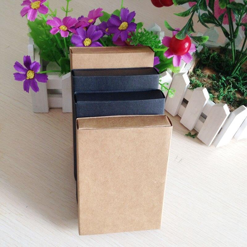 100 Stks/partij Bruin Papier Kraft Lade Blank Dozen Draagtas Gift Kraft Lades Verpakking Kartonnen Doos Voor Oorbellen/Kettingen-in Geschenktasjes & Inpak Benodigheden van Huis & Tuin op  Groep 3