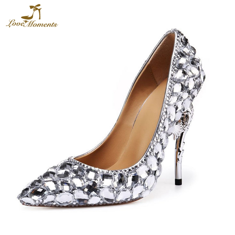 Silver Rhinestone Crystal Wedding shoes Womens Fashion Party shoes Strange style High Heels Bridal Shoes Homecoming Prom ShoesSilver Rhinestone Crystal Wedding shoes Womens Fashion Party shoes Strange style High Heels Bridal Shoes Homecoming Prom Shoes