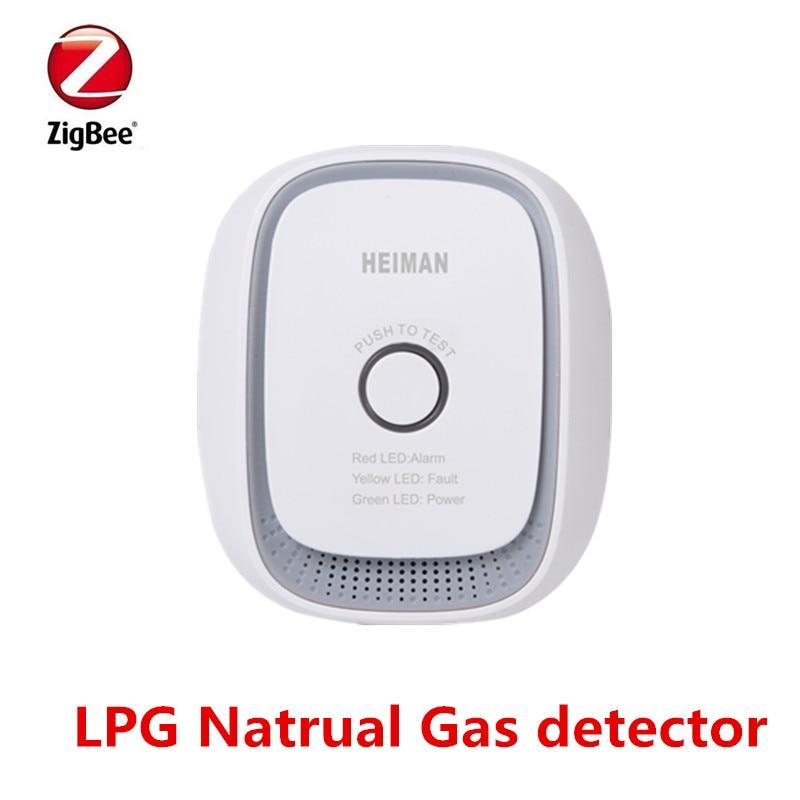 Heiman Wireless Zigbee smart natural gas,coal gas,LPG combustible gas leakage sensor detector недорго, оригинальная цена