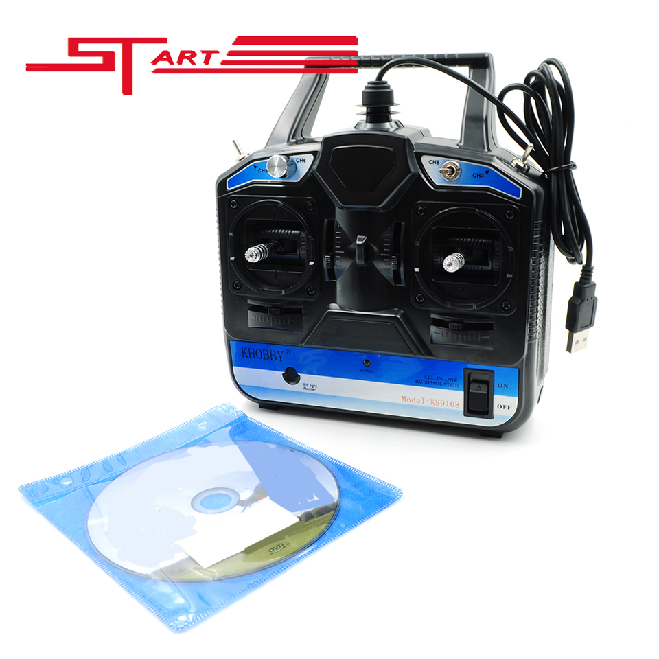 18 in 1 Flight Simulator 6CH RC Helicopter Simulator Quadcopter Remote Control Toys Model 1 2 With CD Disk RC Transmitter