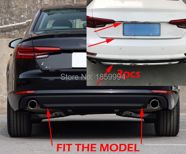for 2017 2018 2019 audi a4 b9 4drs sedan montere bagværn bagagerum - Bilreservedele - Foto 5