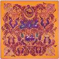 SALUTTO 130*130 cm bufandas de las señoras de Seda de la Tela Cruzada Caliente nuevo encanto de mil noches de impresión digital de la mujer grande tamaño de seda bufandas