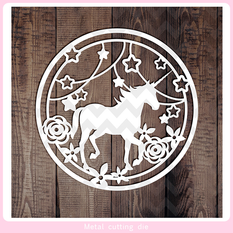 Round dreamy Animal lace Metal Cutting Dies for DIY Scrapbooking Photo Album Decorative Embossing Paper Card Crafts Die Cut 2019