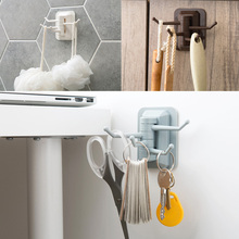 Storage Holders Racks Strong Adhesive Wash Cloth Clip Rotatable Home Improvement Bath Room Kitchen Supplies Storage Towel Rack