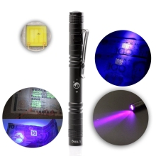 LED UV Flashlight Ultraviolet Torch ZQ-X1044 395nm Mini Counterfeit Money Distinguishing Pen Light