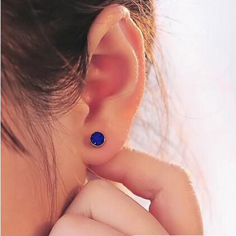 Sweet Candy Color Round Zirconia CZ Diamond Ear Cuff Jewelry Clip On Earring for Women Girls Cartilage Non Pierced
