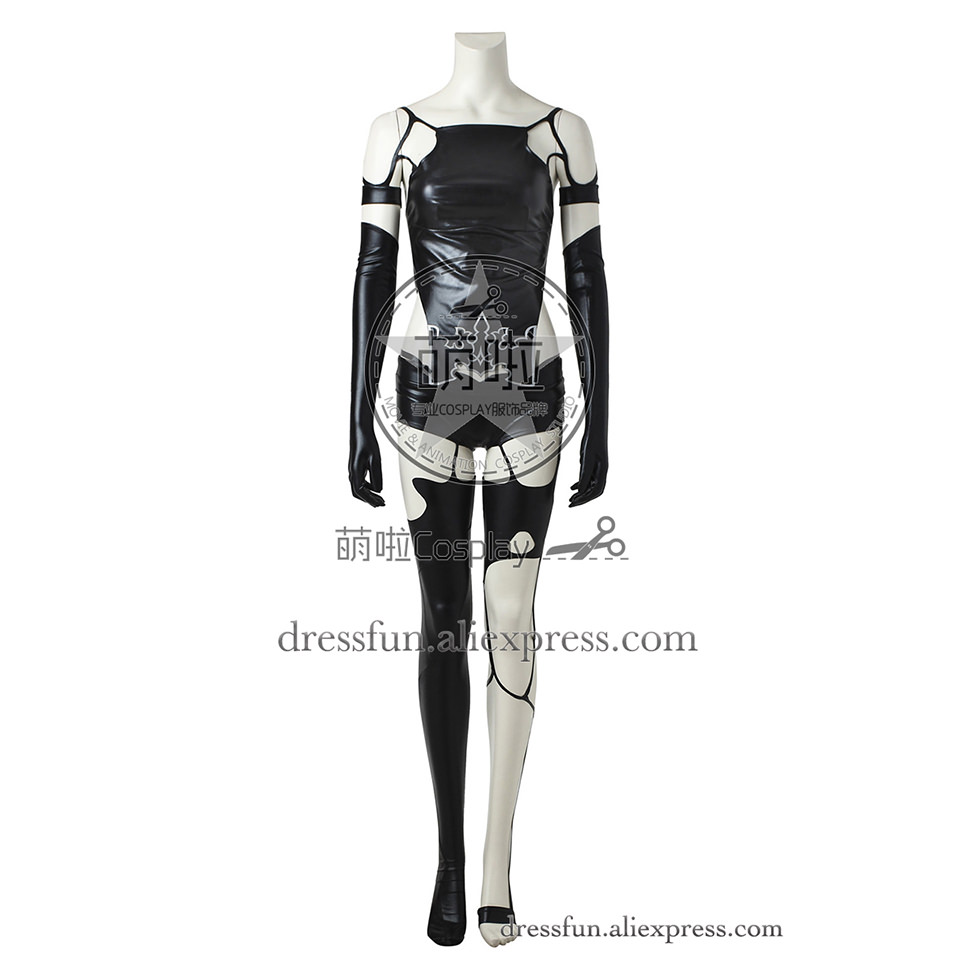 Nier Automata Cosplay Costume YoRHa Type A No.2 Black Outfits Full Uniform Beautiful Clothing Comfortable Fashion Fast Shipping