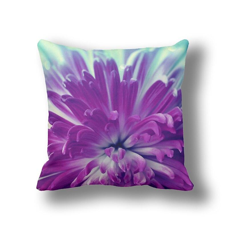 IKathoME Purple Daisy 3D Printed Flowers Decorative Pillows Cushion For  Sofa,Home Decor Throw Pillow