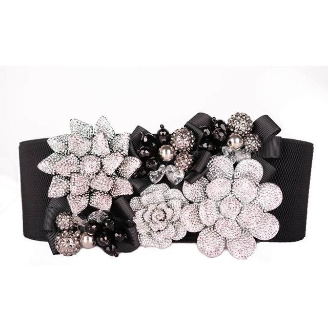 2017 Primavera new design strass cintos elásticos para as mulheres as mulheres se vestem de cristal artesanal cinto cinta