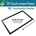 42 Inch Multi touch IR Touch Overlay Frame Panel, 10 touch points, Supply multi touch software together with it