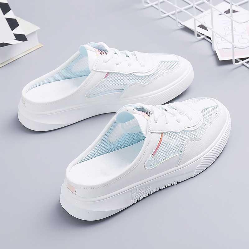 купить!  Женская обувь кроссовки 2019 мода лето повседневная женская обувь вырезы кружева холст полая сетка