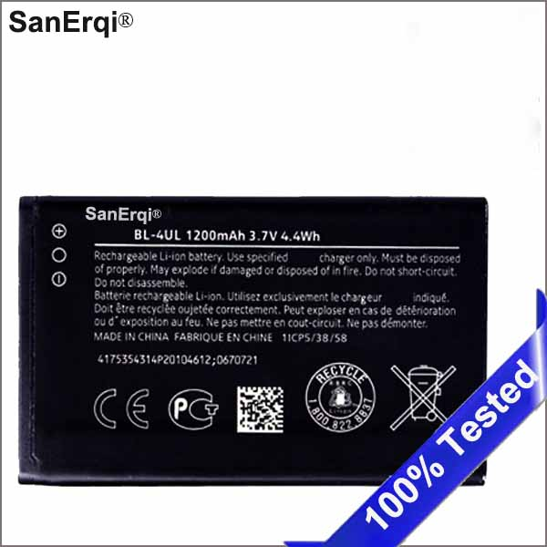 <font><b>BL</b></font>-4UL Phone Lithium Polymer Battery 1200mAh Perfect For Nokia Asha <font><b>225</b></font> Asha225 <font><b>BL</b></font> 4UL High Quality Safe Stable Battery SanErqi image
