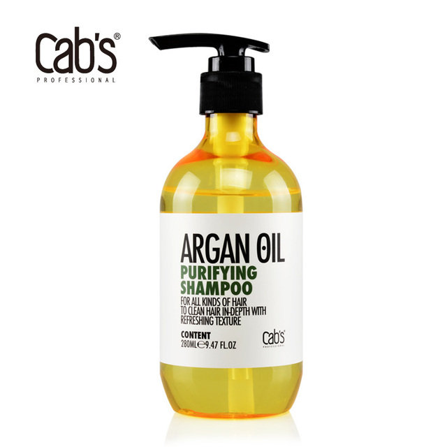 4f9dbbe92586fd Cab s Argan Oil Purifying Shampoo 280ML hair deep cleaning shampoo with  fresh feeling Free Shipping