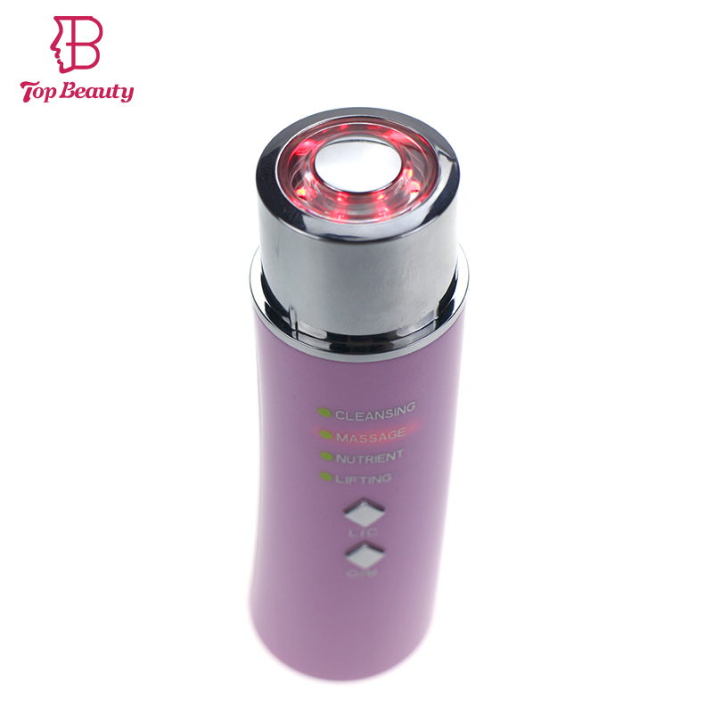 BIO LED Photon Therapy Vibration Massage Face Cleansing Skin Rejuvenation Wrinkle Removal Anti-aging Skin Lifting Device 4 in 1 ultrasonic waves wrinkle pigment removal skin tightening face lifting led light photon therapy skin rejuvenation device