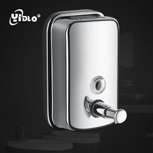 Liquid Soap Dispensers Wall Mounted 1000ML/500ML Stainless Steel Manual Shampoo Dispenser Kitchen Bathroom Fitting For Hand Soap недорого