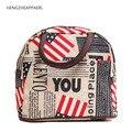 2017 nueva lona de la flor del corazón dot grid stips bandera diseño de la hoja colorido portátil bolsas de alimentos bolsa de almuerzo bolsa de picnic familiar muchacha de la señora