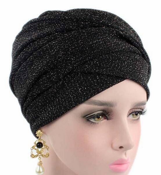 wrap cap fancy shimmer turban hat hang over bandana chemo cancer bonnet hat Cap lovely bonnet free ship life over cancer