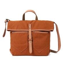 Новая парусиновая Водонепроницаемая повседневная женская сумка через плечо кожаная сумка-шоппер в стиле пэчворк Женская винтажная сумка