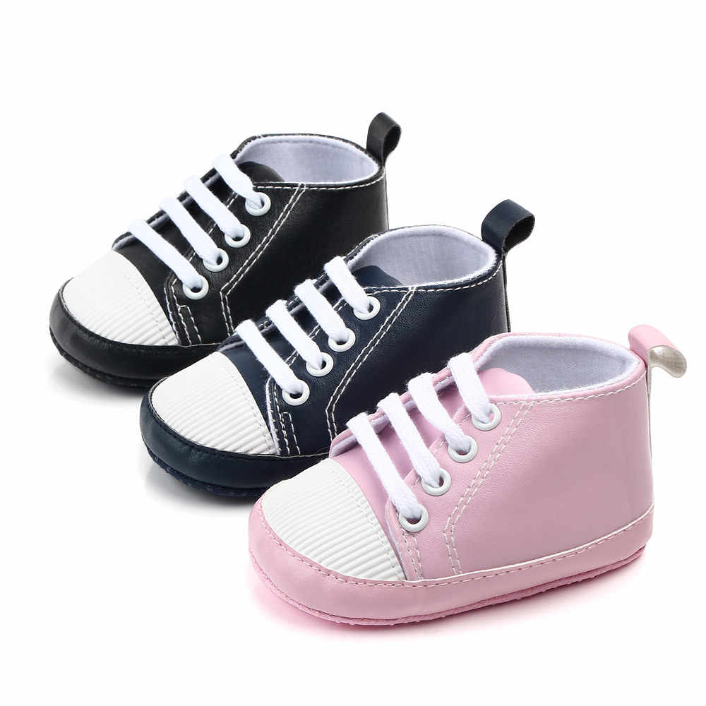 New Fashion Baby First Walkers PU Material Cool Soft Baby Shoes First Step Walking Prewalker for Newborn Boys Girls Toddlers