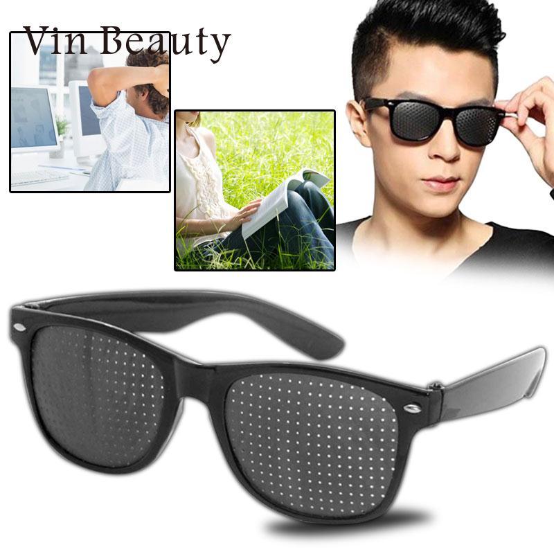 Black Improver Eyesight Anti Fatigue Pinhole Glasses