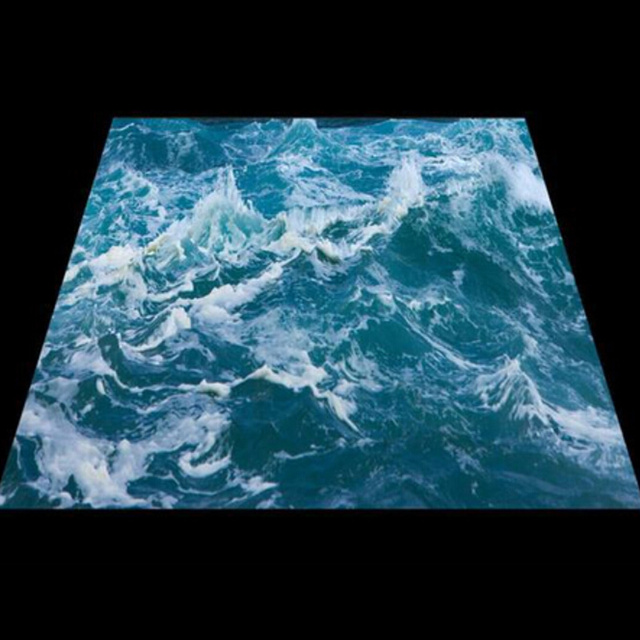 Papier peint Mural de sol 3D personnalisé   Personnalisé, vague deau de mer, 3D Mural de sol en PVC, imperméable, papier peint en vinyle, décoration de maison
