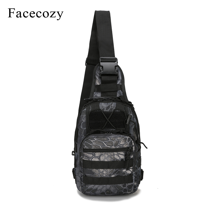 Facecozy 600D Outdoor Military Bag Hiking Climbing Backpack Shoulder Tactical Camping Hunting Daypack Camouflage Sports Backpack