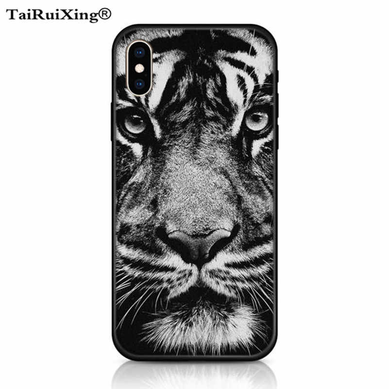 3D Relief Glossy White tiger Case For Huawei P20 Lite Pro Nova 2 lite 3e 3i Mate 10 Lite Y9 2018 Y5 Y6 Y7 Prime 2018 Play 7 Case