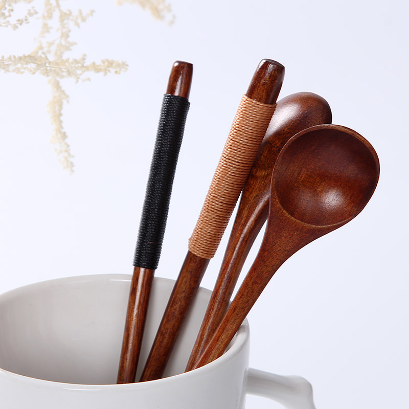 Small Wooden Coffee Stirrer Mixing Spoon for Coffee Tea Long Handle Coffee Spoon Wood Honey Spoon Tea Accessories (5)