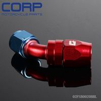 4 AN 45 Degree Fuel Oil Swivel Fitting Aluminum Hose End Adaptor BL