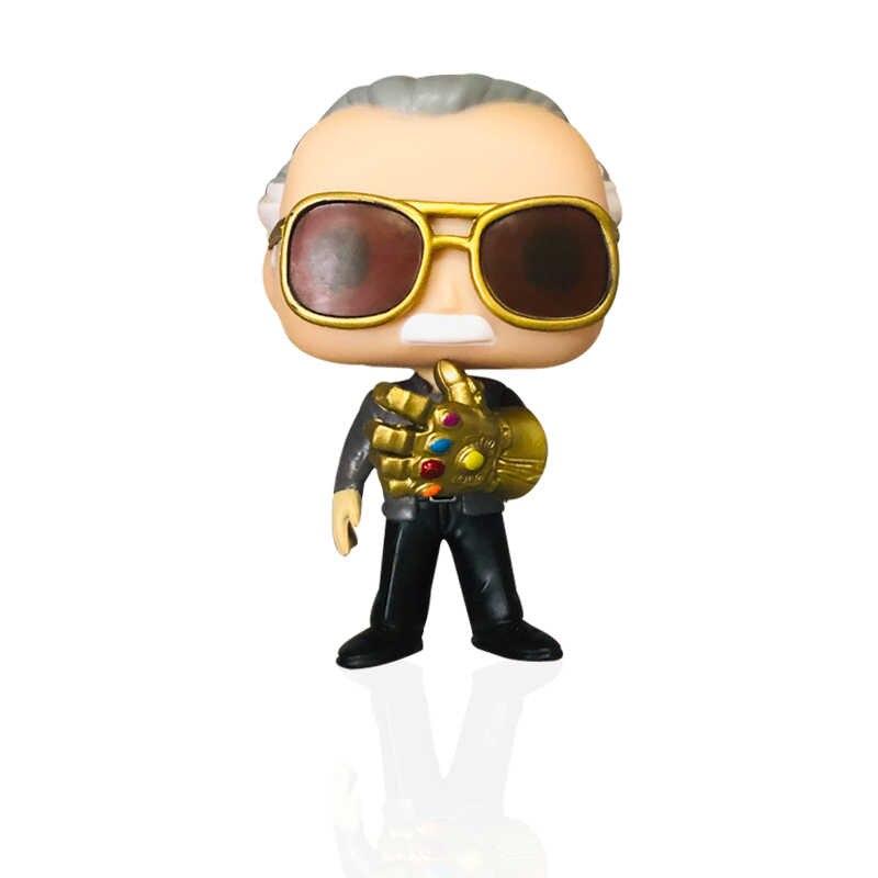 FUNKO POP Vingadores: endgame Pai de Stan Lee & TERREMOTO #01 Marvel Action Figure Coleção de brinquedos para presente de Natal Das Crianças