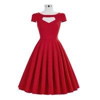 Belle Poque Summer Dress 50s Vintage A Line Robe 2017 New Arrival Cap Sleeve Crew Neck
