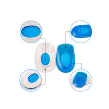 Feet Cushion Heel Support 1 Pair Blue Soft Silicone with Clo