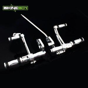 Image 2 - BIKINGBOY CNC ビレットアルミフォワードコントロール FXDL 用 00 16 ストリートボブ FXDB ダイナスーパーグライド 00 15 14 13 12