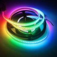 1 m/4 m/5 m WS2812B Wbudowany WS2811IC Adresowany Pixel RGB Sen Kolor Taśmy LED, Czarny/biały PCB, 30/60/144 diod/m, IP20/IIP67 DC5V