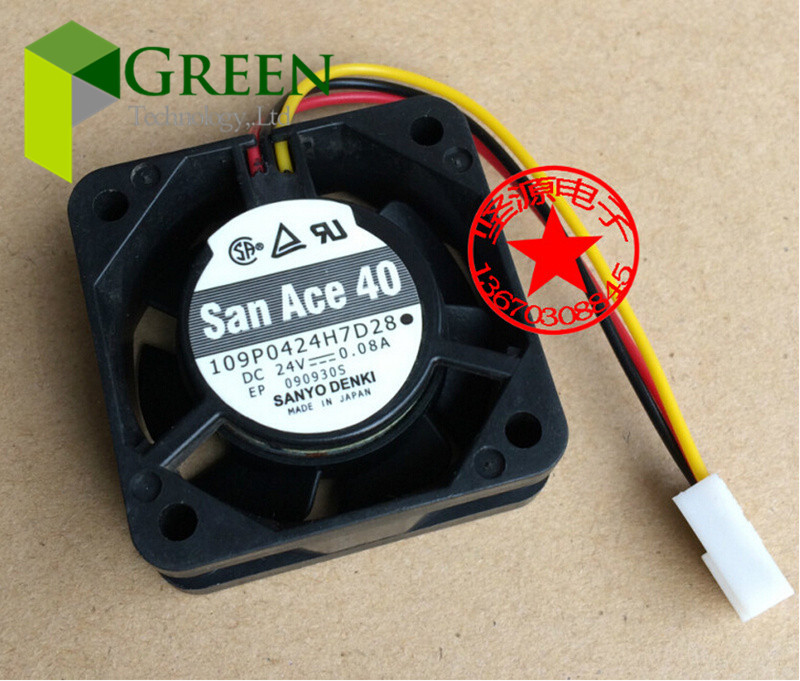 SANYO 4015 109P0424H7D28 Cooling server Fans for Fanuc P N A90L 0001 0441 39 DC24V 0