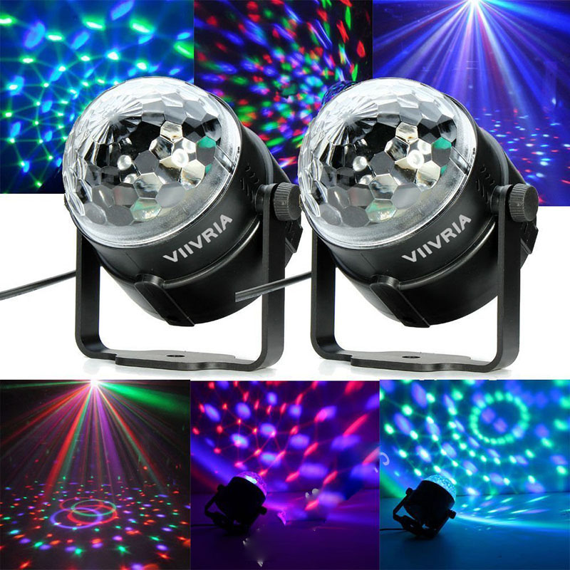110V 220V Mini RGB DJ disco led light Crystal Magic Ball Rotatable Laser Stage Light Projector party supplies indoor lighting rg mini 3 lens 24 patterns led laser projector stage lighting effect 3w blue for dj disco party club laser