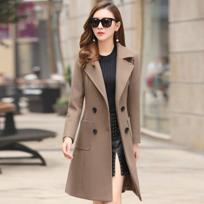 Femmes Mince Coréenne Manteau De La 1 Slim 2 Laine 3 Marée Version Épaissir Nouvelle 2018 Printemps coréen Long qxHAOBtB