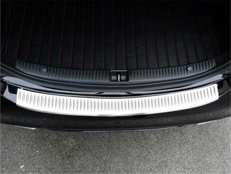 купить 1pc Exterior Rear Bumper Sill Protector Trim Cover Plate For Mercedes Benz C Class W205 2014-2015 C180 C200 C250 C300 C400 C63 недорого