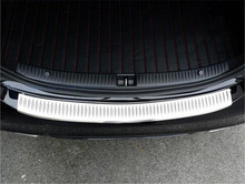 1pc Exterior Rear Bumper Sill Protector Trim Cover Plate For Mercedes Benz C Class W205 2014-2015 C180 C200 C250 C300 C400 C63