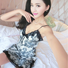 Sling nightdress female summer pajamas sexy woman lace fashion comfortable breathable home service
