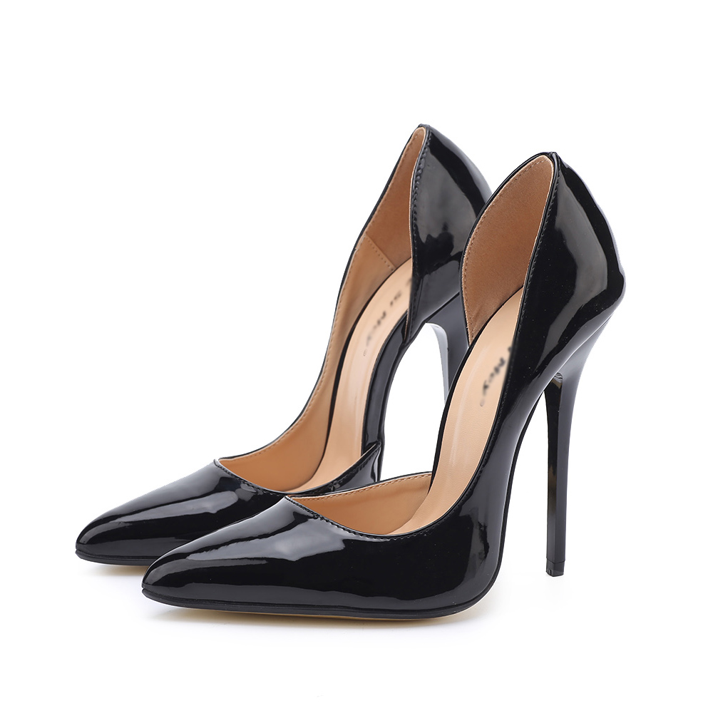 Pompes Taille 49 Pointu Grande Plus Talon Femme Mince Super 40 Drag Arrivé Queen Peu Profonde Bouche Timetang Nouveau Black Chaussures Ol Élégant Bout Haute 7FppBR