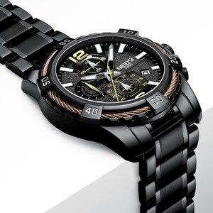 Image 3 - NIBOSI Mens שעונים למעלה מותג יוקרה קוורץ גברים שעון צבאי גדול חיוג עמיד למים ספורט שעון יד Relogio Masculino